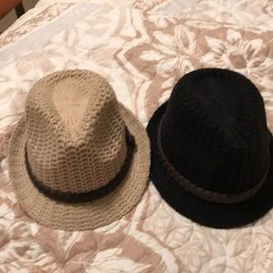 Woven brown and black womens fidora